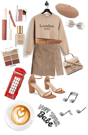 brown work outfit