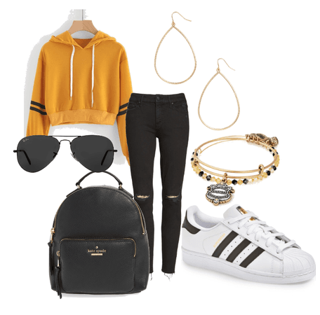Hufflepuff inspired casual look