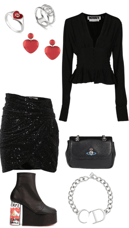 sequin skirt challenge outfit