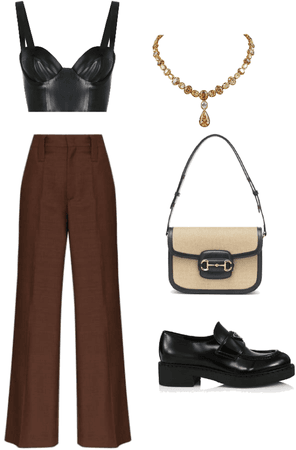 brown and black fit