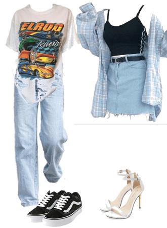 boyish outfit and girlish outfit haha