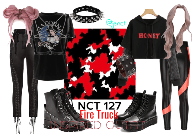 NCT 127 - Fire Truck Inspired Outfit