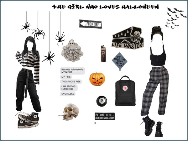 the girl who loves hallowen
