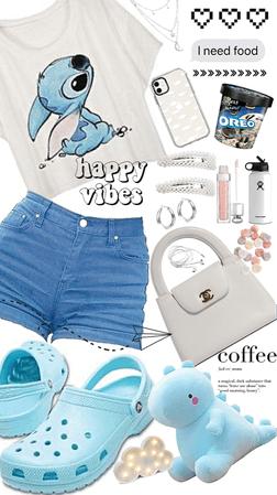 Blue Crocs Outfit