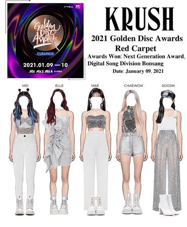 KRUSH 2021 Golden Disk Awards Red Carpet