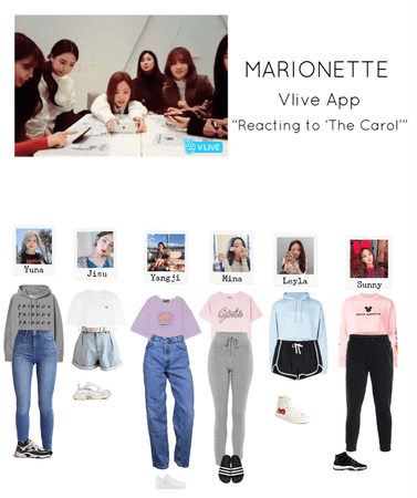 """{MARIONETTE} Vlive app """"Reacting to 'The Carol'"""""""
