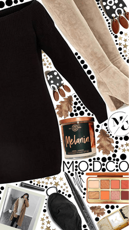 Modco's Sweater Dress and Candles, and Earrings