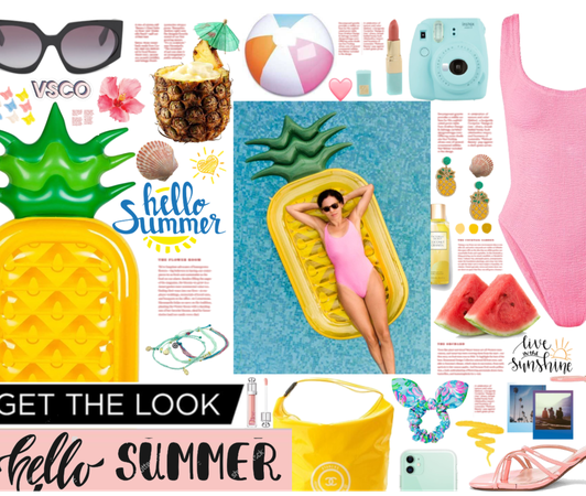 Get the look:  summer and pool floats= perfect day