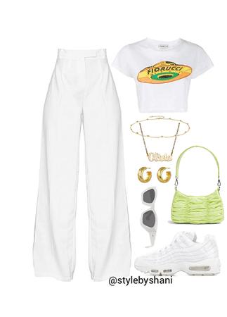 monochromatic ootd: white