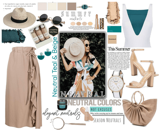 Beige and Teal Neutrals