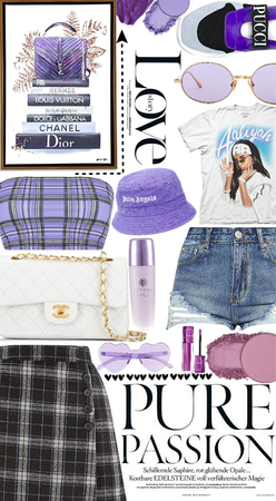 Purple ponytail💜🤍💜