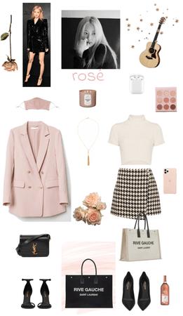 blackpink rosé outfit