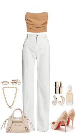 Beige & White Combo