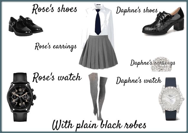 Rose & Daphne's non-house school uniform