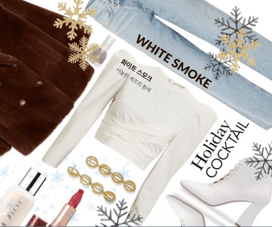 white with white