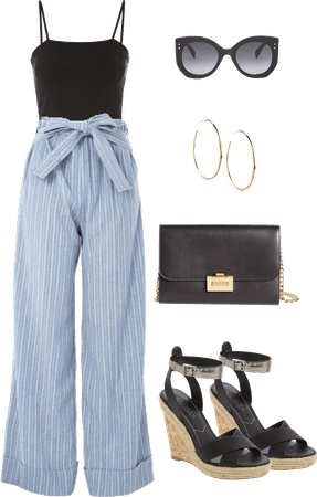 How to wear stripped palazzo pants