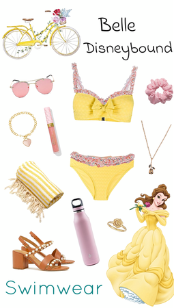 Belle Swimwear Disneybound