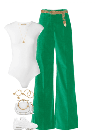 green goes with white