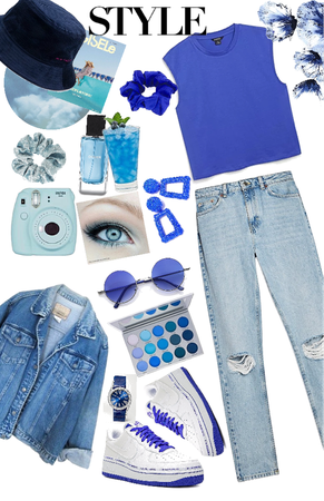 blue casual