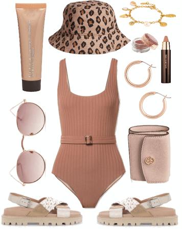 Rose dawn beach outfit