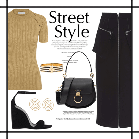 street in gold