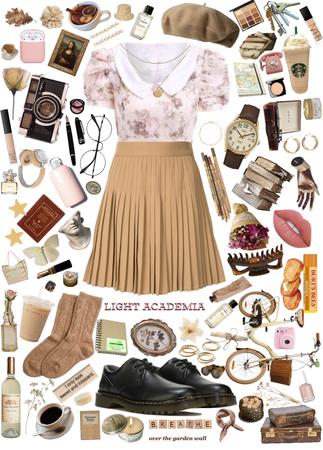 Preppy Academia Pleated Skirt Board