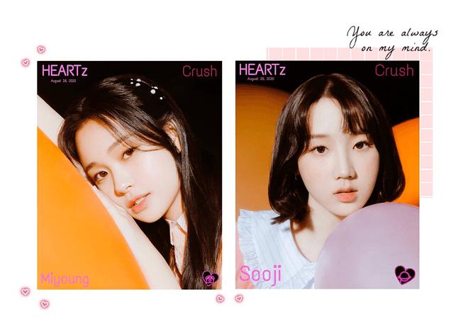 HEARTz// Miyoung & Sooji 'Crush' Teaser Photos