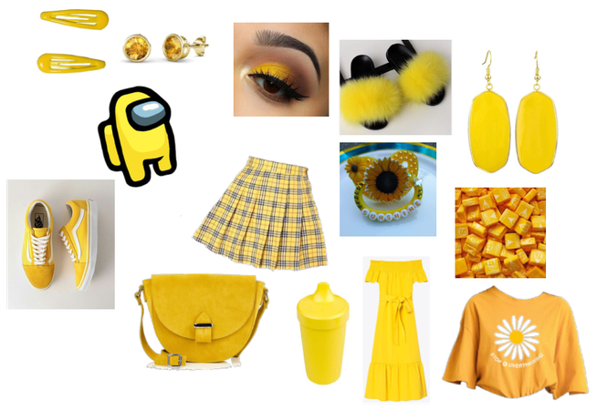 A cute yellow agere look