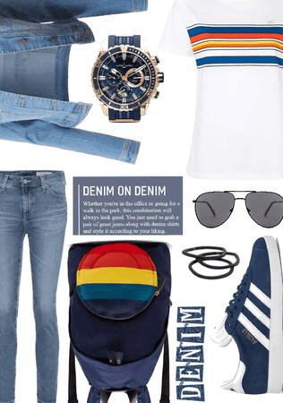 denim and dark blue