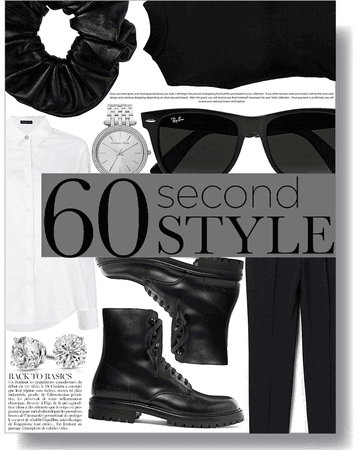 60 second style: black and white casual 🖤🤍