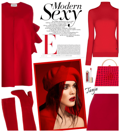 All Red Winter Outfit
