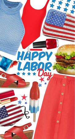 red white and blue Labor Day