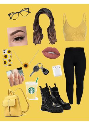 Yellow Grunge Girl