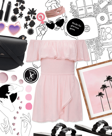 pink and black for summer