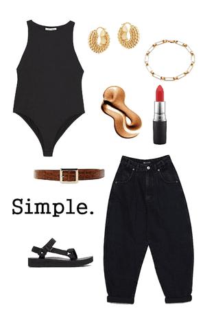 simple black summer