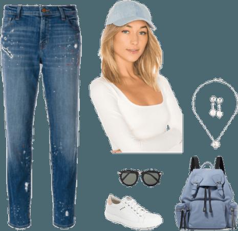 Splatter jeans