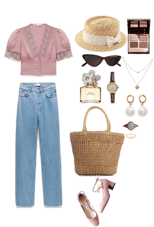 Spring Summer Pink Outfit