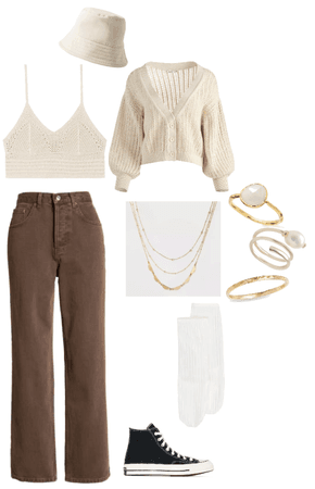 basic white on brown fit? idk