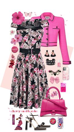Pink Rose Tea Length