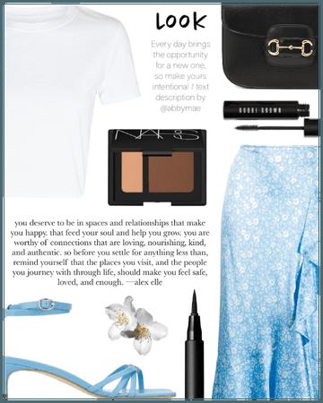 Satin Midi Skirt ( 8. 30. 2020 )