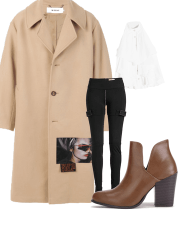 3D Nude Trench Style