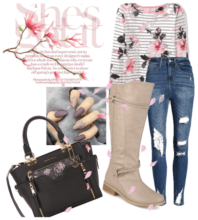 Fall Flowers and Boots
