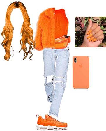 Orange and jeans