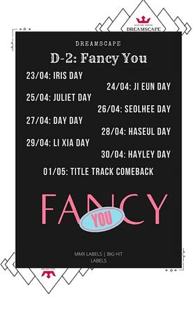 DREAMSCAPE [드림스게이프] Fancy You Comeback Schedule