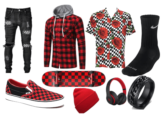 Red/Checkered