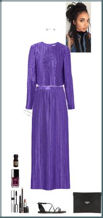 purple reception look (Hela)