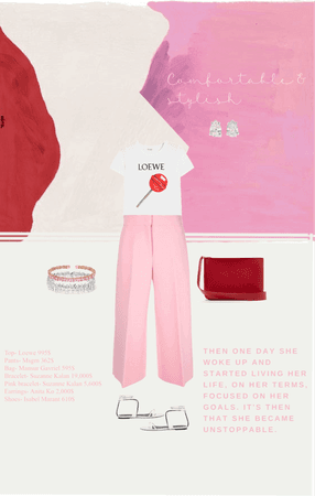 Comfortable and stylish in pink and red