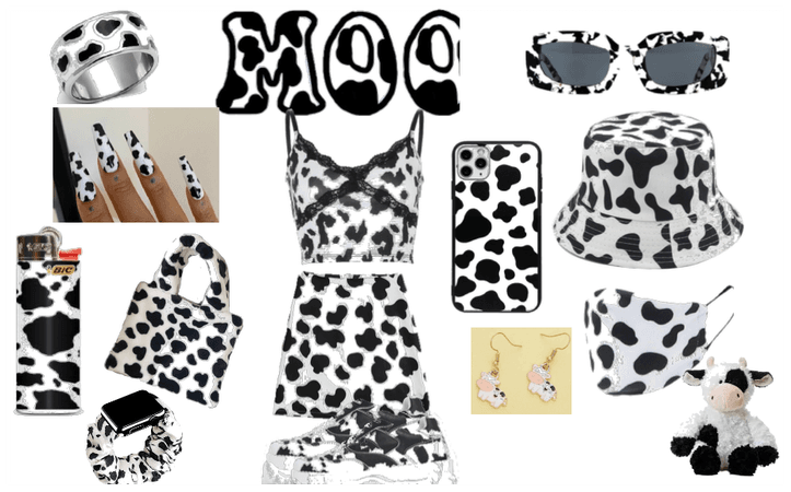 cow outfit for the animal print challenge