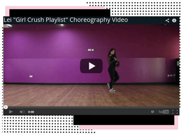 "[STYLE] Lei ""Girl Crush Playlist"" Choreography Vid"