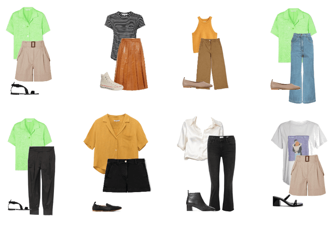 spring capsule wardrobe outfits